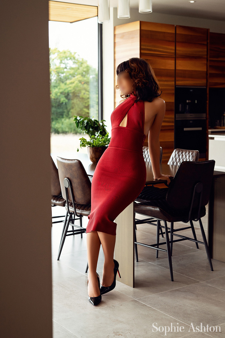 Gorgeous London escort and lady in red Sophie